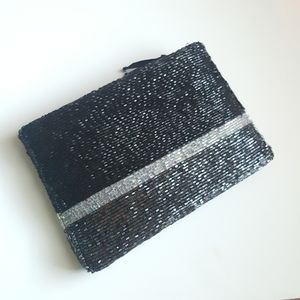 Neiman Marcus Hand Beaded evening pouch clutch